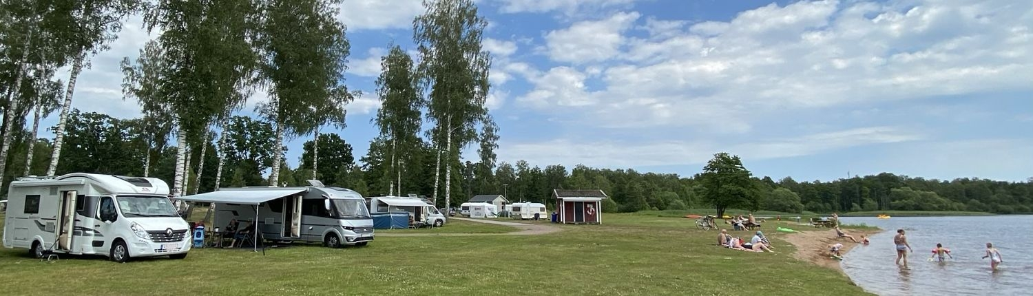 Camping am See und Strand in Hultsfred, Småland
