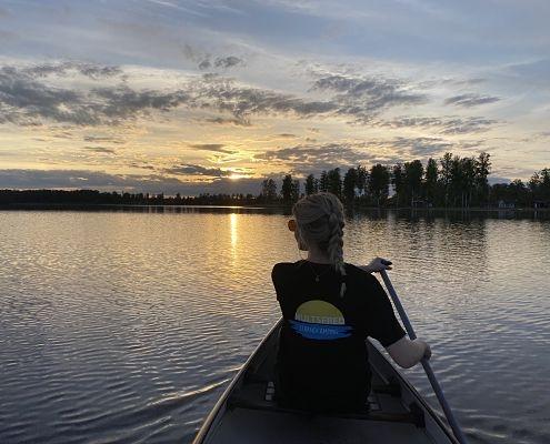 Paddla kanot i Hultfred Småland