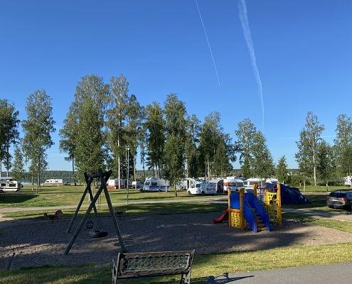 Lekplats på camping