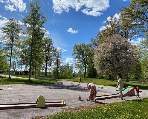 Minigolf på campingen i Hultsfred Småland