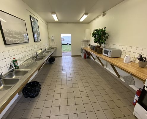 Die Küche auf einem Campingplatz in Hultsfred