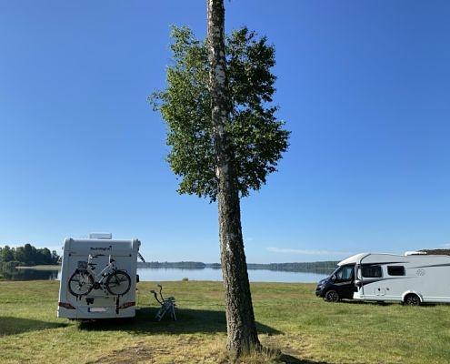 Campingplatz in der Nähe des Sees