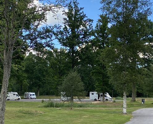Motorhomes on the campsite in Hultsfred