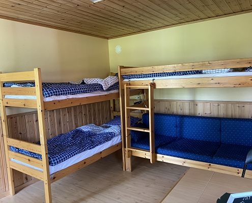 Two bunk beds in the cottage