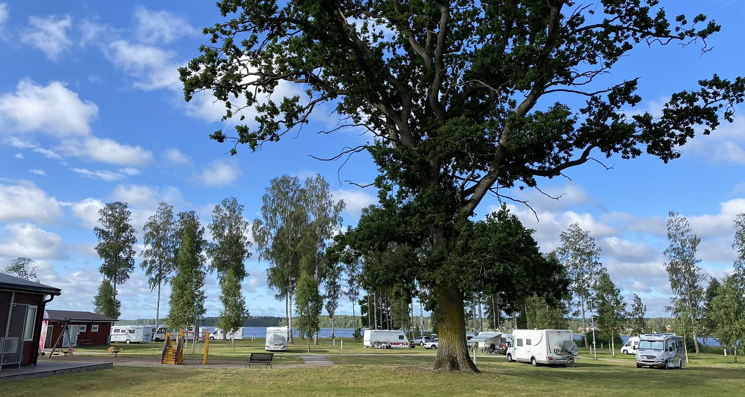 View from the camping pitch in Hultsfred