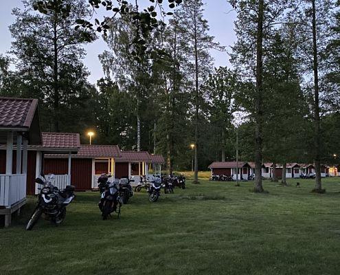 Motorcykelträff på camping i Småland