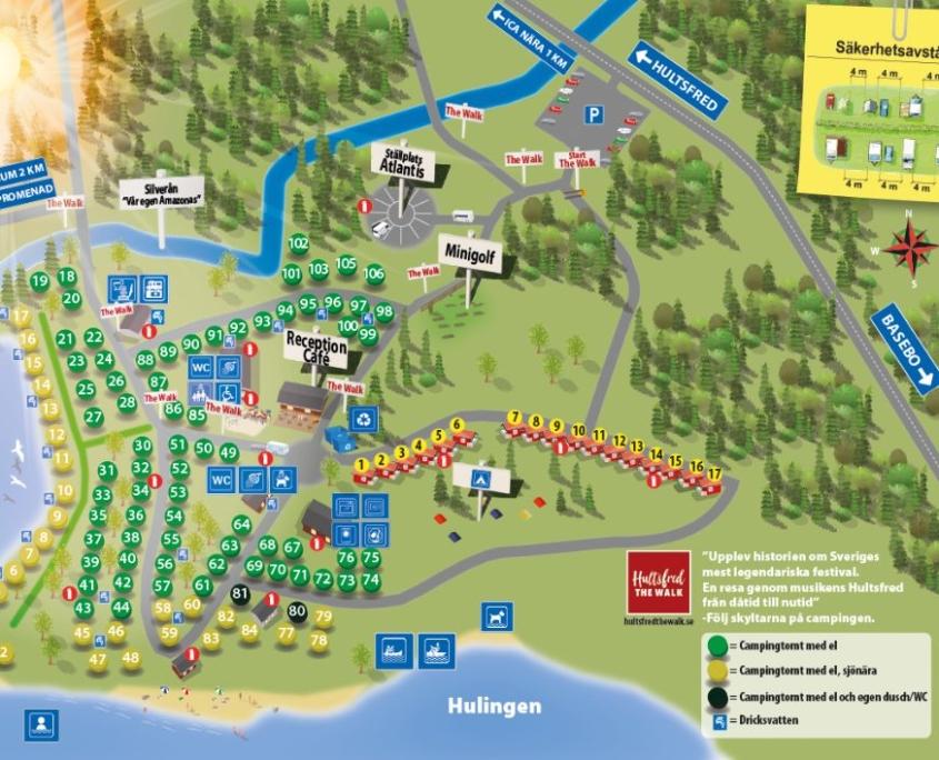 Hultsfred Strandcamping Campingkarta
