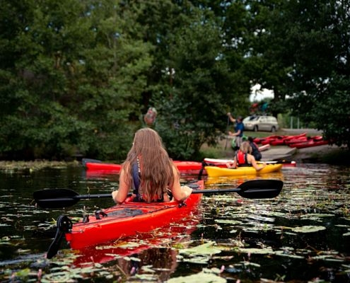 Kayak in a group