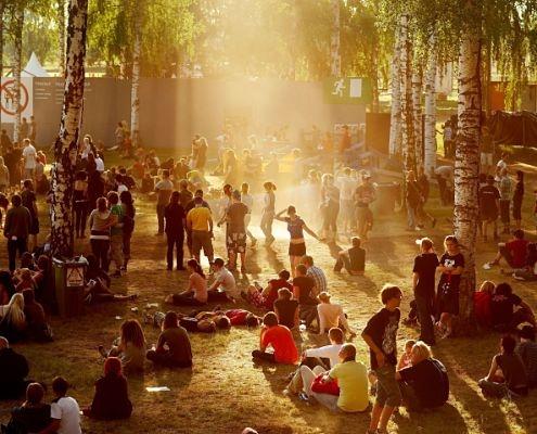 Människor på Hultsfredsfestivalen