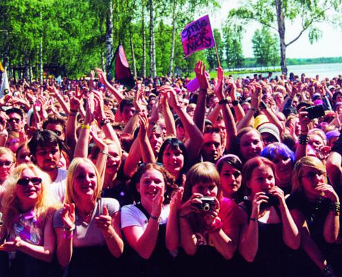 Publikhav på Hultsfredsfestivalen