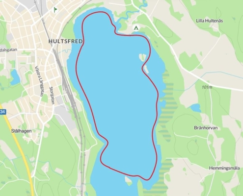 Paddle around the top part of Hulingen