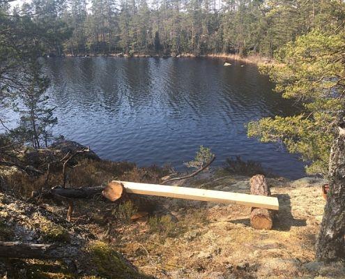 Hammarsjön runt, part of hiking trails in Hultsfred, Småland