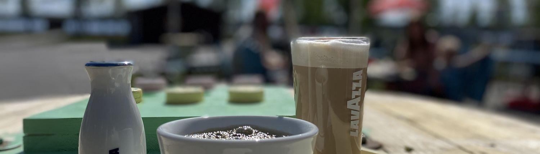Våffelcafé på Hultsfred Strandcamping i Småland